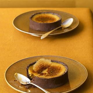 Black Licorice Creme Brulee Tarts