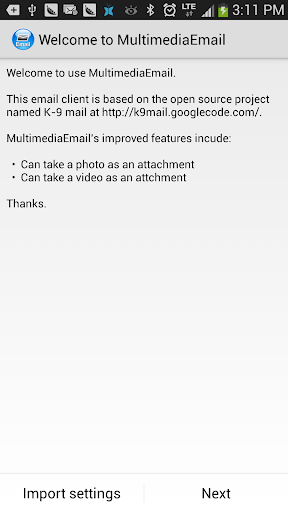 Multimedia Email Client
