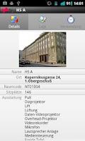 Screenshot of TU Graz Raumsuche