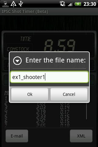 IPSC Shot Timer- screenshot