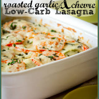 Roasted Garlic and Chevre Lasagne – Low Carb and Gluten-Free.
