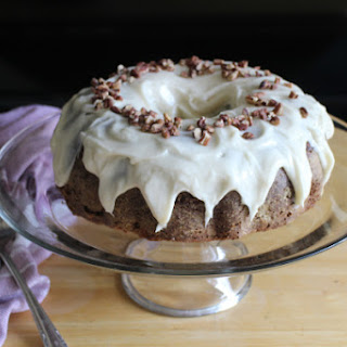 Carrot Bundt Cake with Maple Cream Cheese Frosting #BundtBakers