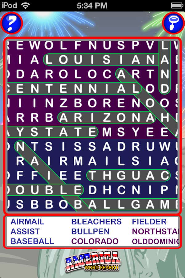Epic America Word Search- screenshot