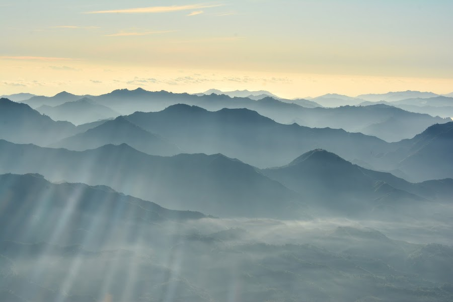 Layered mountains of Davao Occidental by Len Jingco - Landscapes Mountains & Hills ( davao, mountain, aerial, landscape, philippines, #GARYFONGDRAMATICLIGHT, #WTFBOBDAVIS )