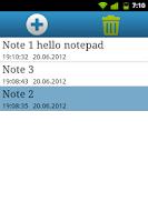 Screenshot of Qnote - simple notepad