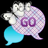 GO SMS - Lavender Ice Sky