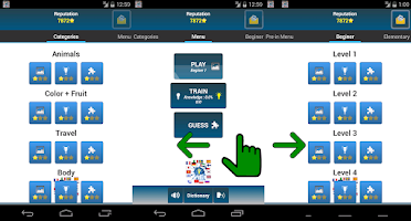 Screenshot of Voc4u Vocabulary Trainer Free
