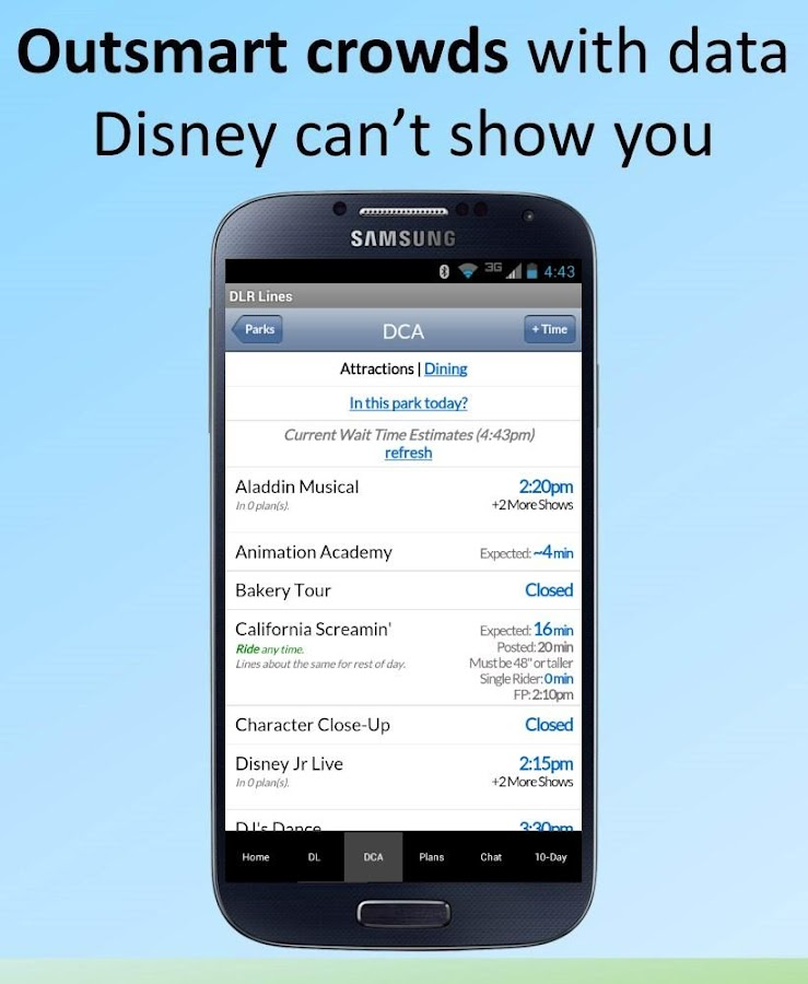 Disneyland Lines- screenshot