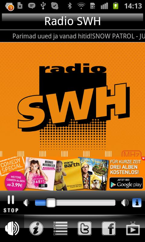 Radio SWH 105.2 FM - screenshot