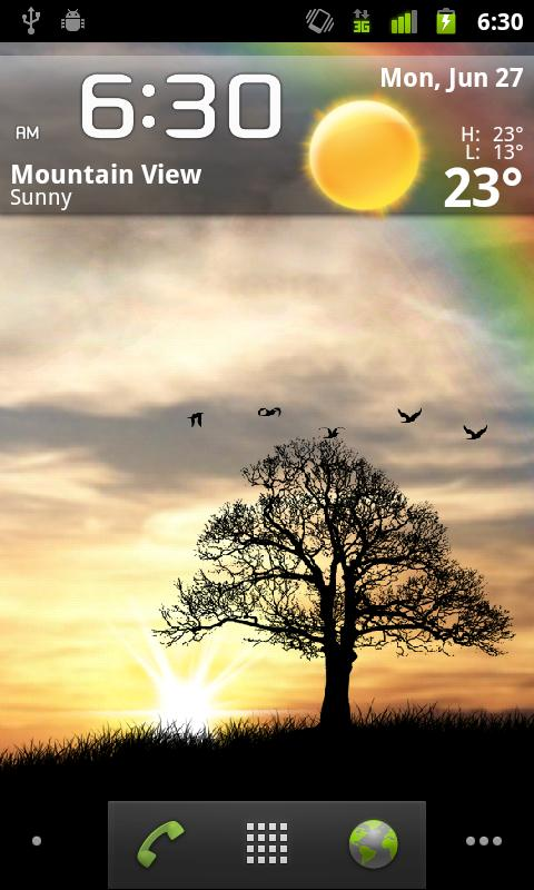 Sun Rise Pro Live Wallpaper Screenshot 2