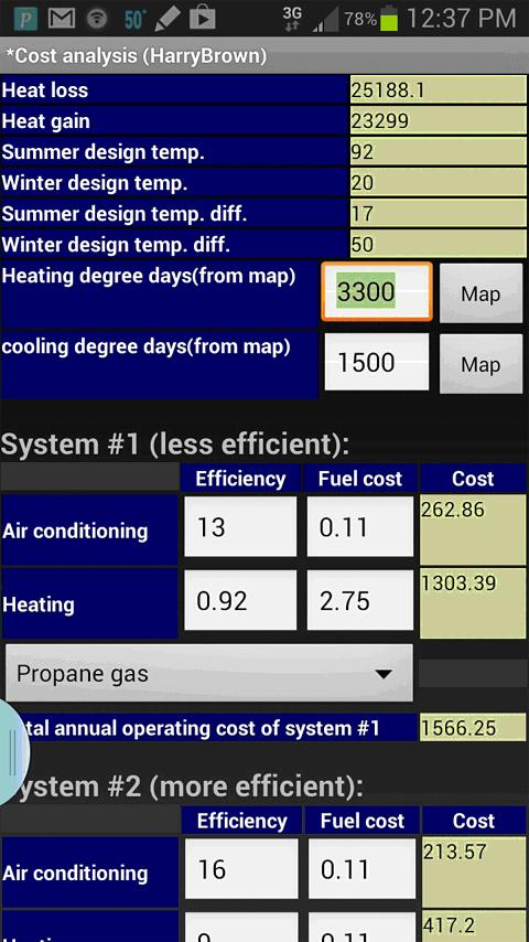 Worksheets Hvac Residential Load Calculation Worksheet ems hvac load calculator android apps on google play screenshot
