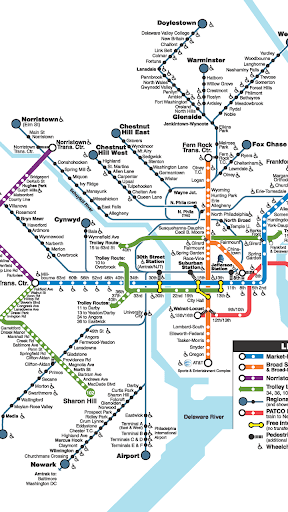 Philadelphia SEPTA Map