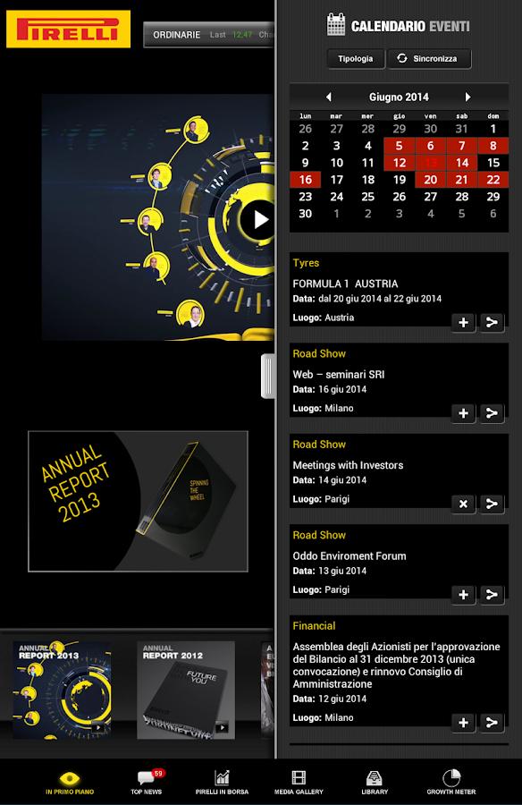 Pirelli & C. S.p.A. - screenshot