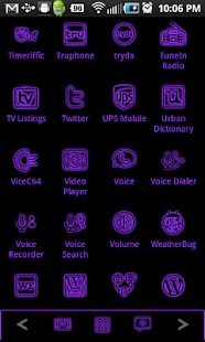 GloWorks Purple ADW Theme- screenshot thumbnail