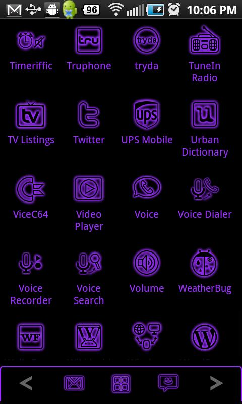 GloWorks Purple ADW Theme- screenshot