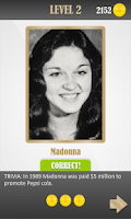 Screenshot of Celebrity Rare Photo Quiz