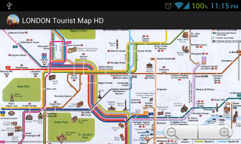 LONDON Tourist Map HD Google Play Store revenue and download – Map Of London For Tourists