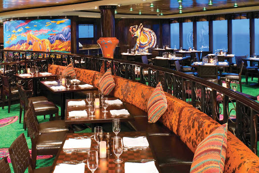 Norwegian-Gem-dining-Tequila - The Tequila Tapas Bar features safari-inspired colors, a cozy ambience and delicious Mexican dishes aboard Norwegian Gem.
