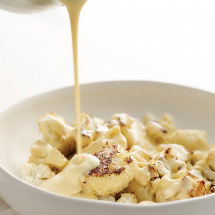 Roasted Cauliflower with Cheese Sauce Recipe