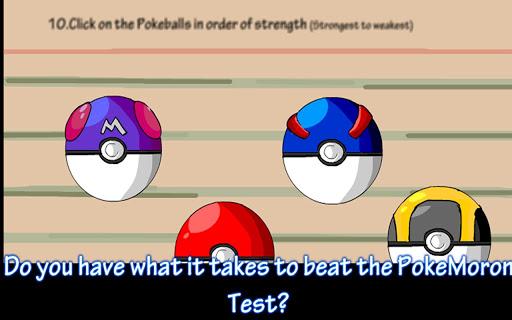 Poke Moron Test