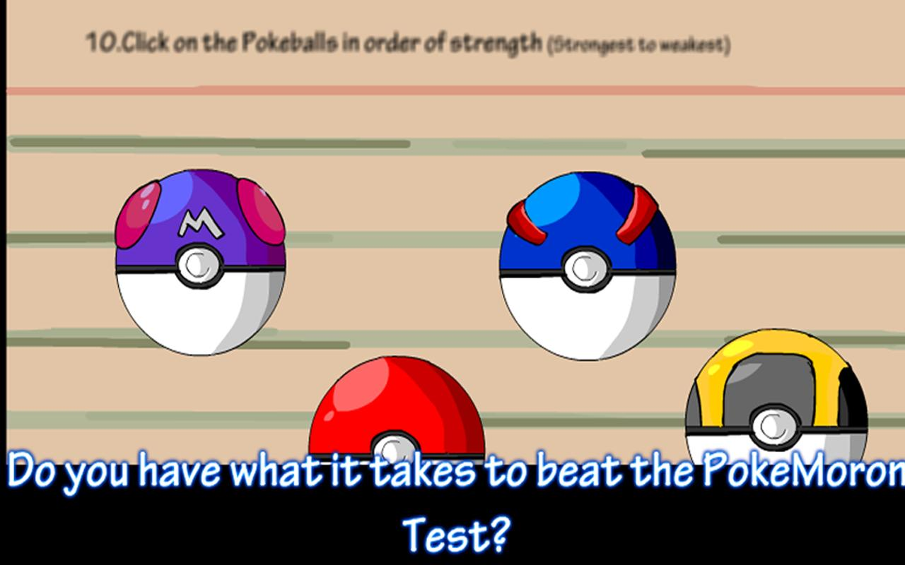 Poke Moron Test - screenshot