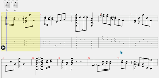 Find & play your favorite guitar tabs, with Guitar Tab Player!