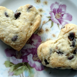 Heart-Shaped Dried Cherry and Chocolate Chip Scones Recipe