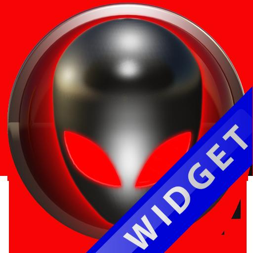 Poweramp Widget Red Alien