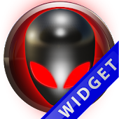 Poweramp Widget Red Alien