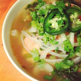 Shrimp Pho - Vietnamese Noodle Soup.
