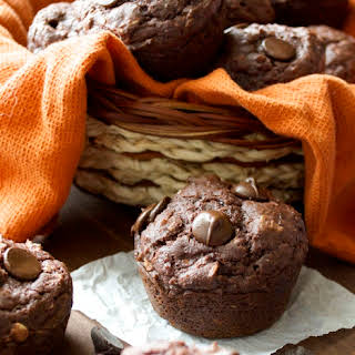 Dark Chocolate Chunk Protein Muffins.