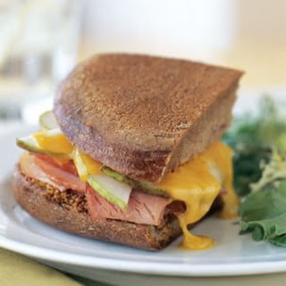 Smoked Ham, Cheddar Cheese and Pear Panini