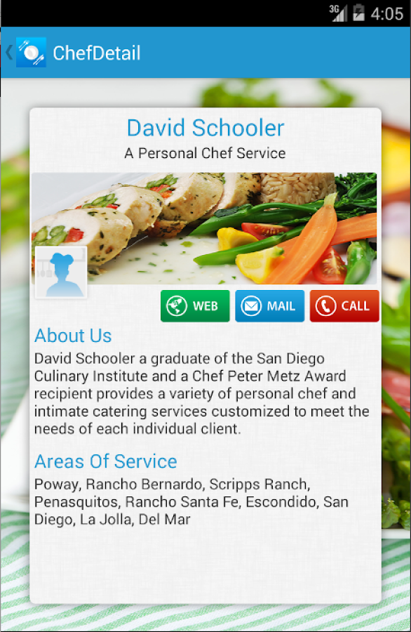 Find & Hire a Chef- screenshot