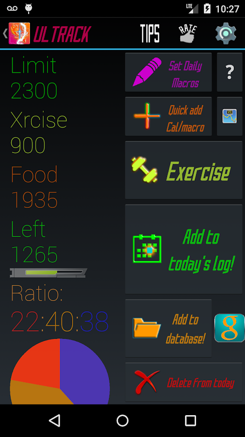 Calorie Counter Macros- screenshot