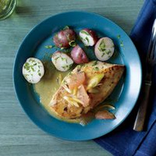 Pan-Seared Chicken with Grapefruit-Butter Sauce