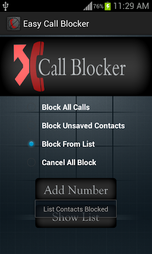 Easy Call Blocker