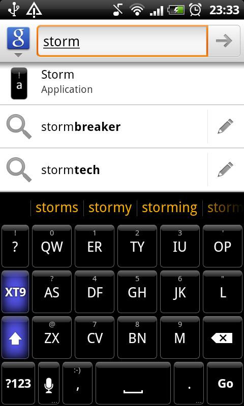 Storm - HD Keyboard Theme- screenshot