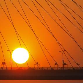 Divine glory by Caesar Jees - Landscapes Sunsets & Sunrises ( sky, nature, sunset, bridge, landscape, sun )