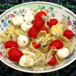 Mozzarella Tomato and Artichoke Salad