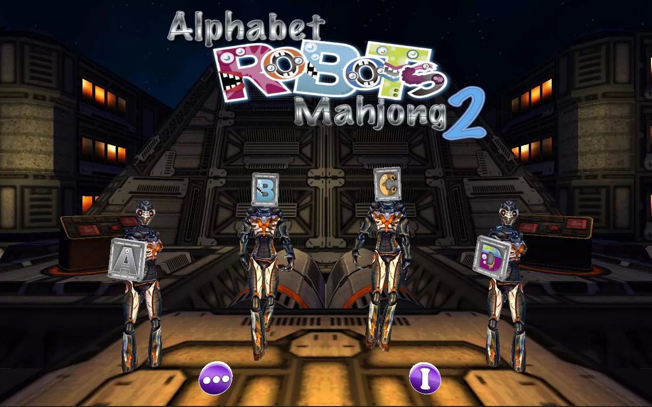 Alphabet Robots Mahjong 2 - screenshot