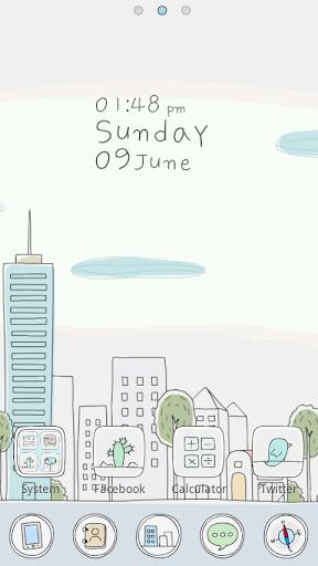 Line City GO Launcher Theme