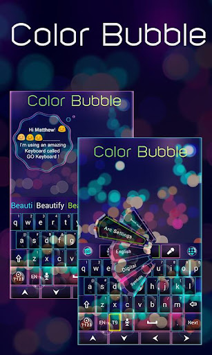 Color Bubble GO Keyboard Theme