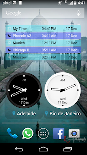 Bob's World Clock Widget - screenshot thumbnail