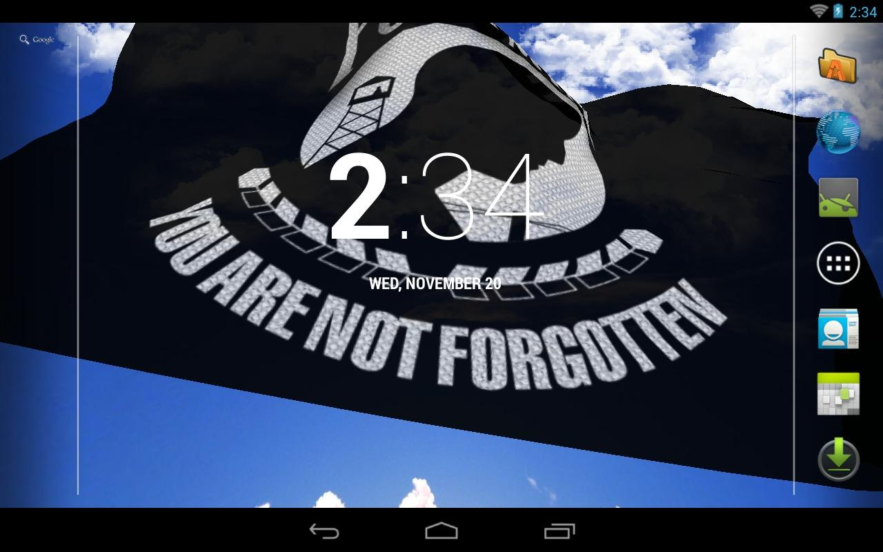 POW/MIA Flag Live Wallpaper - screenshot