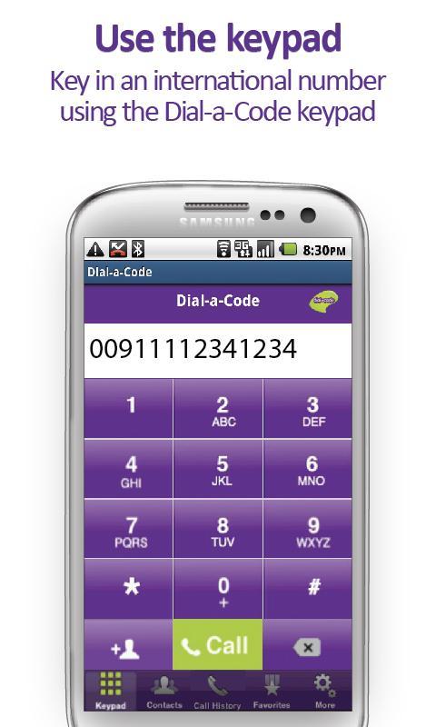 The Dial-a-Code App- screenshot