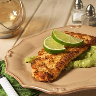 Crispy Baked Salmon w/ Avocado Remoulade.