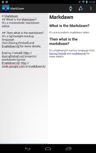 MarkDawn - markdown editor