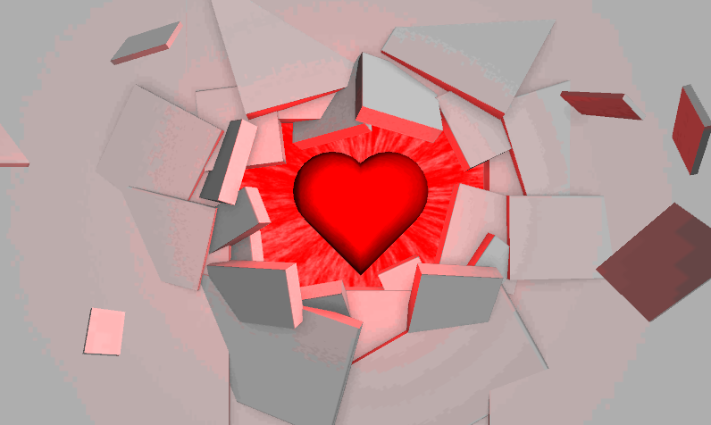 3D Wallpaper Heart - screenshot
