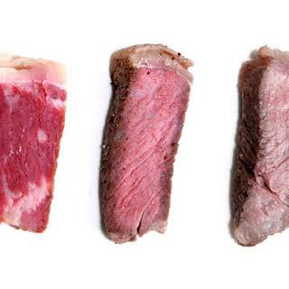 Sous-Vide Steaks.