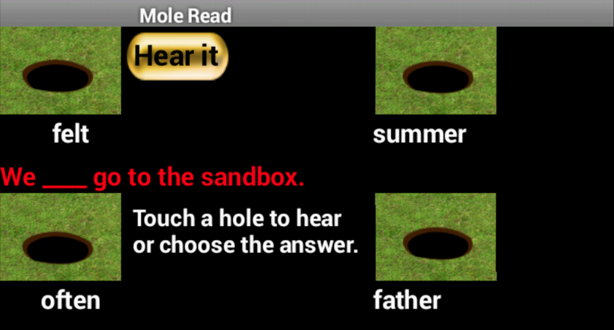 Mole Read- screenshot